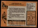 1975 Topps #306  Lee Fogolin   Back Thumbnail