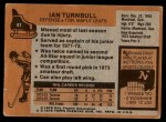 1975 Topps #41  Ian Turnbull   Back Thumbnail