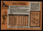 1975 Topps #128  Walt Tkaczuk   Back Thumbnail