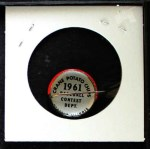1961 Cranes Potato Chip Pin #4   Chicago White Sox Back Thumbnail