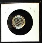1961 Cranes Potato Chip Pin #6   Cleveland Indians Back Thumbnail