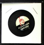 1961 Cranes Potato Chip Pin #6   Cleveland Indians Front Thumbnail