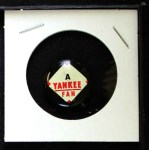 1961 Cranes Potato Chip Pin #20   Yankee Fan Front Thumbnail