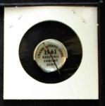 1961 Cranes Potato Chip Pin #15   Philadelphia Phillies Back Thumbnail