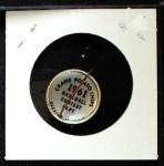 1961 Cranes Potato Chip Pin #9   Kansas City A's Back Thumbnail