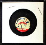 1968 Cranes Potato Chip Pin #12   Milwaukee Braves Front Thumbnail