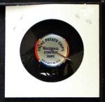 1968 Cranes Potato Chip Pin #11   Los Angeles Dodgers Back Thumbnail