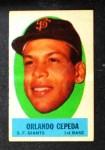 1963 Topps Peel-Offs #10  Orlando Cepeda  Front Thumbnail