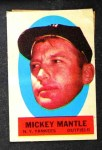 1963 Topps Peel-Offs #26  Mickey Mantle  Front Thumbnail