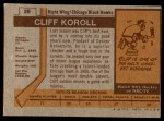 1973 Topps #28  Cliff Koroll   Back Thumbnail