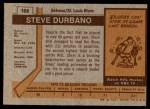 1973 Topps #168  Steve Durbano   Back Thumbnail