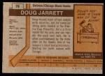 1973 Topps #76  Doug Jarrett   Back Thumbnail