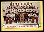 1973 Topps #99   Minnesota North Stars Team Front Thumbnail