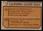 1973 Topps #95    Seals Team Back Thumbnail
