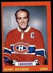 1973 Topps #87  Henri Richard   Front Thumbnail