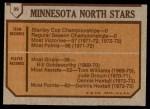 1973 Topps #99   Minnesota North Stars Team Back Thumbnail