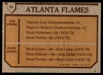 1973 Topps #92   Flames Team Back Thumbnail