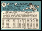 1965 Topps #165  Dick Ellsworth  Back Thumbnail