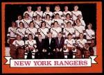1973 Topps #102   Rangers Team Front Thumbnail