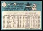 1965 Topps #114  Jim Hickman  Back Thumbnail