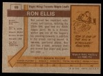 1973 Topps #55  Ron Ellis   Back Thumbnail