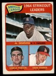 1965 Topps #11   -  Al Downing / Camilo Pascual / Dean Chance AL Strikeout Leaders Front Thumbnail