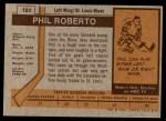 1973 Topps #151  Phil Roberto   Back Thumbnail