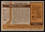 1973 Topps #54  Tracy Pratt   Back Thumbnail