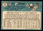 1965 Topps #245  Joe Pepitone  Back Thumbnail