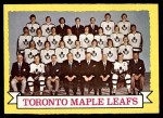 1973 Topps #106   Toronto Maple Leafs Team Front Thumbnail