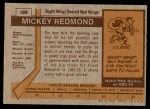 1973 Topps #190  Mickey Redmond   Back Thumbnail