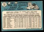 1965 Topps #154  Bob Humphreys  Back Thumbnail
