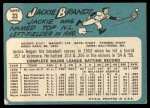 1965 Topps #33  Jackie Brandt  Back Thumbnail