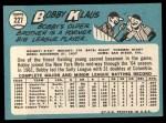 1965 Topps #227  Bobby Klaus  Back Thumbnail