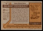 1973 Topps #70  Gilbert Perreault   Back Thumbnail