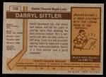 1973 Topps #132  Darryl Sittler   Back Thumbnail