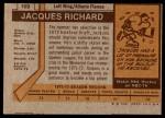 1973 Topps #169  Jacques Richard   Back Thumbnail