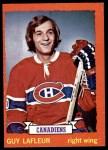 1973 Topps #72  Guy Lafleur   Front Thumbnail