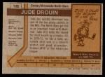1973 Topps #125  Jude Drouin   Back Thumbnail