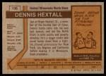 1973 Topps #136  Dennis Hextall   Back Thumbnail
