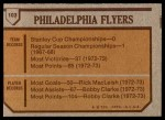 1973 Topps #103   Flyers Team Back Thumbnail