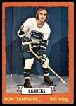 1973 Topps #69  Don Tannahill   Front Thumbnail