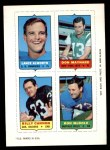 1969 Topps 4-in-1 Football Stamps  Lance Alworth / Don Maynard / Billy Cannon / Ron McDole  Front Thumbnail
