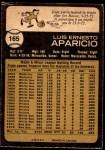1973 O-Pee-Chee #165  Luis Aparicio  Back Thumbnail