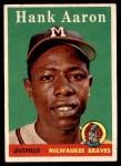 1958 Topps #30 WN Hank Aaron  Front Thumbnail