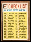 1962 Topps #367   Checklist 5 Front Thumbnail