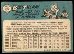 1965 Topps #222  Bob Tillman  Back Thumbnail