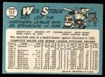 1965 Topps #117  Wes Stock  Back Thumbnail