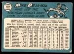 1965 Topps #182  Mike de la Hoz  Back Thumbnail