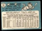 1965 Topps #153  Norm Cash  Back Thumbnail